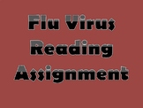 Flu Virus Reading Assignment