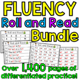 Reading Fluency GIANT Bundle of Roll and Read Literacy Centers