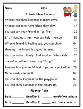 Fluency Activities: February