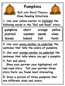 Fluency Activities: October