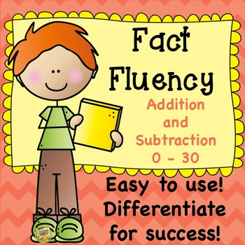 Fluency - Add and Subtract within 30 - Aligned to TN Standard 2.OA.B.2