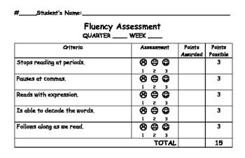 Fluency Assessment Rubric