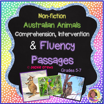 Fluency: Australian Animals/Nonfiction Comprehension And Extended Response