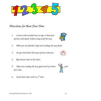 Fluency:  Beat Your Time