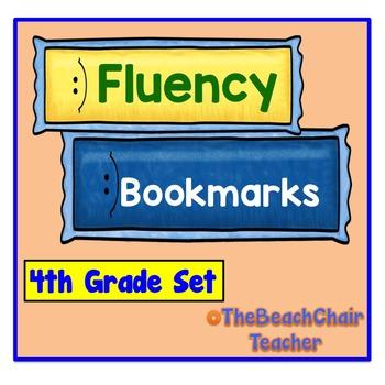 Fluency Bookmark 4th  -  Fourth Grade Set