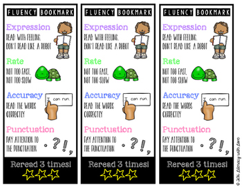 Fluency Bookmark