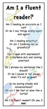 Fluency Bookmark - Dr. Seuss Theme