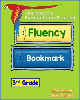 Fluency Bookmark 3rd Grade with Macaw Video