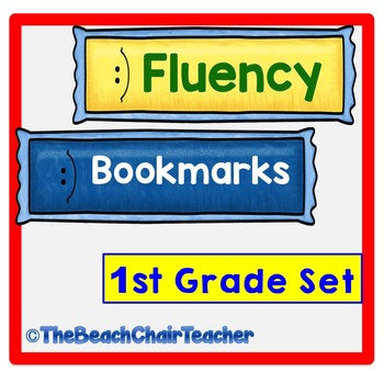 Fluency Bookmark Set First Grade Practice & Assessment - Marzano Compatible