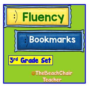 Fluency Bookmarks 3rd Third Grade Practice & Assessment -  Marzano Compatible