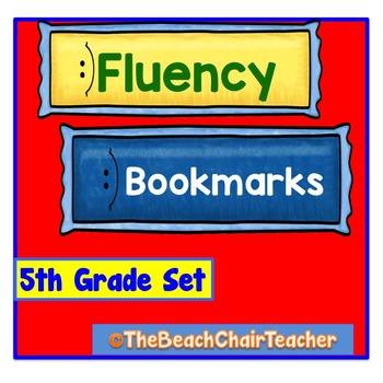 Fluency Bookmark 5th Fifth Grade Set Practice & Assessment