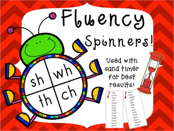 Fluency Bug Spinners With Digraphs