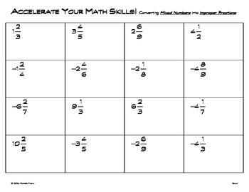 Accelerate Your Math Skills! - Convert Mixed Numbers to Improper Fractions