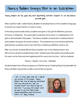 Fluency Builder: Energy Flow in an Ecosystem