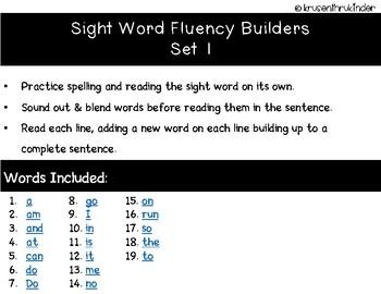 Fluency Builders Set 1