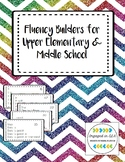 Fluency Builders - Upper Elementary & Middle School Interventions