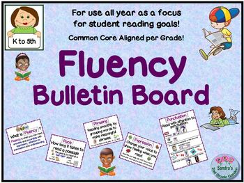 Fluency Bulletin Board for Use All Year for Student Goals