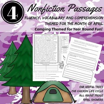 Reading Comprehension Passages April NONFICTION Fluency Vocabulary