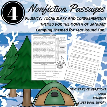 Reading Comprehension Passages January Fluency, Comprehension, Vocabulary