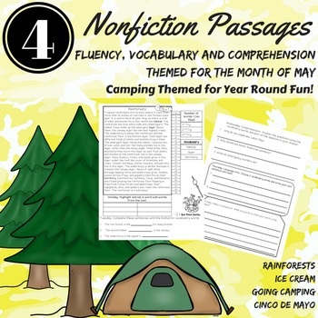 Comprehension Passages Nonfiction Accuracy Fluency Vocabul