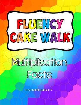 Fluency Cake Walk- Multiplication