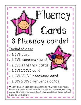 Fluency Cards (CVC, CCVC, and CVCC)
