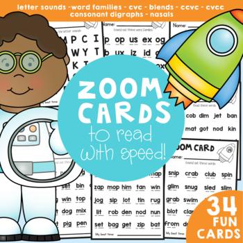Fluency Cards - Fast Fluency Fun Zoom Reading Cards