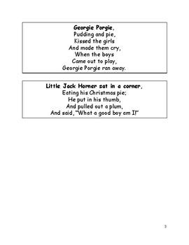 Fluency Cards: Nursery Rhymes