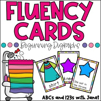 Fluency Cards {blends/digraphs w/ matching pictures!}