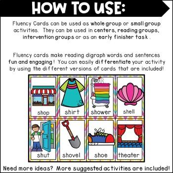 Fluency Cards {blends & digraphs)