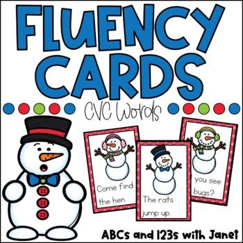 Fluency Cards {Winter CVC}