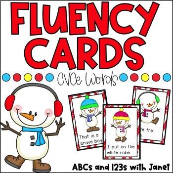 Fluency Cards {Winter CVCe}