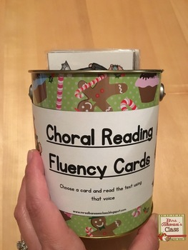 Fluency Cards for Choral Reading
