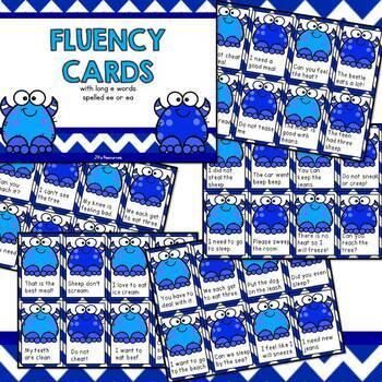 Fluency Cards {long e vowel patterns}