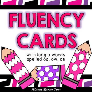 Fluency Cards {long o words}