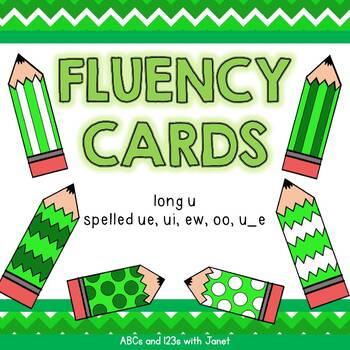 Fluency Cards {long u}