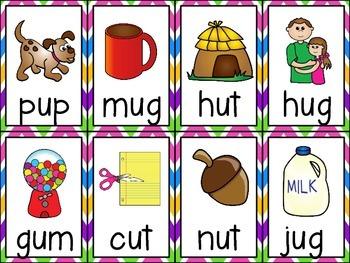Fluency Cards {short u words}