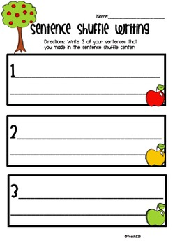 FALL Fluency Activity