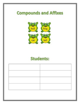 Word Study Fluency Posters: Compound Affixes