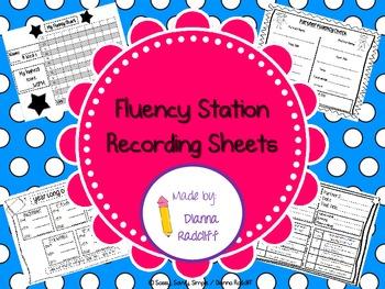 Fluency Center- Recording Sheets