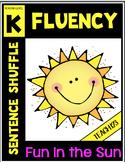 Fluency Activity Kindergarten Sentence Shuffle Mini Book I