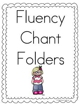 Fluency Chant Folders