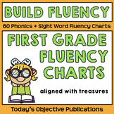 Fluency Charts for Treasures First Grade