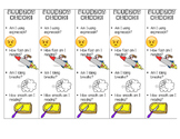 Fluency Check Bookmarks