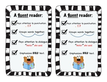 Fluency Check-List for Guided Reading