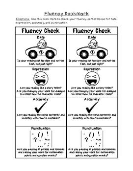 Fluency Checklist Resource