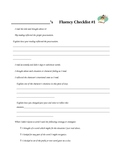 Fluency Checklist for Students
