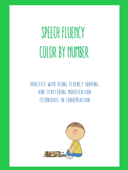 Speech Fluency (Stuttering) Color by Number
