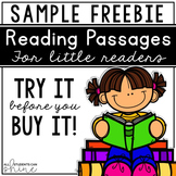 Reading Comprehension Passages ~ FREEBIE