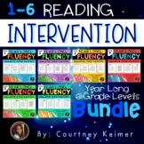 Fluency & Comprehension Reading Intervention Bundle Grades 1, 2, 3, 4, 5, & 6